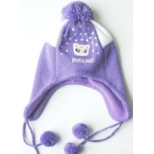 Lindo sombrero de polar invierno polar con orejeras
