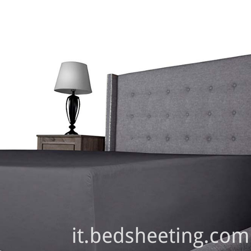 Dark Grey Polyester Knitted Bottom Sheet