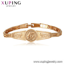 75402 Xuping großhandel Umwelt Kupfer materialien 18 karat gold armband für unisex