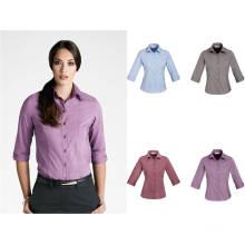 Uniforme de senhora de moda com camisa de manga 3/4 (XY-009)