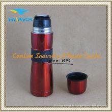 Bouteille isotherme sinueuse avec manchon en caoutchouc (CL1C-A050J)