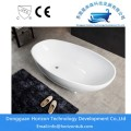 Acrylic Oval Bathtub with Reversible Drain