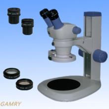 Stereo Zoom Microscópio Jyc0730 Series com suporte de tipo diferente