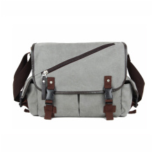 Mäns Vintage Grå Messenger Satchel School Shoulder Bags