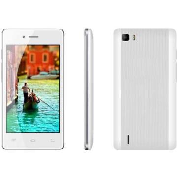 Android 4.4. Faux écran IPS 4.0 pouces, GSM 2band + WCDMA 2100 [3G], Sc7731c [Qual-Core 1.0GHz], 1450mAh, Smartphone