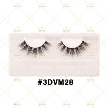 Wearable 3D Mink Lashes FREE SAMPLES with Airy Design 3DVM Marble Customizable Own Logo Eyelashes Box Packaging HAE 3DLM