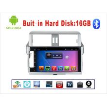 Система Android GPS-навигация Автомобильный DVD-плеер для Toyota Prado 10,1-дюймовый сенсорный экран с WiFi / TV / USB