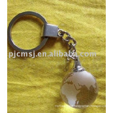 Crystal Globe Keychain