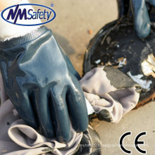 NMSAFETY 2015 new product nitrile safety work gloves anti oil and water industrial gloves