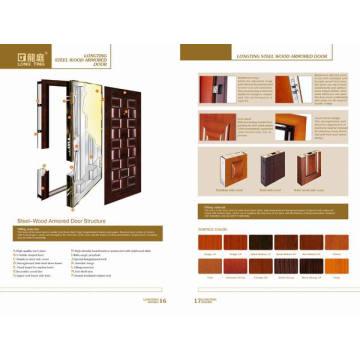 Luxus Stahl Holz gepanzerte Tür