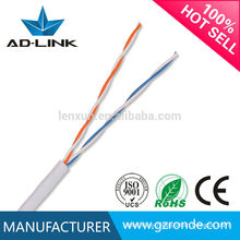 PE / PVC RJ45 / Pull Box Cable de 2 pares cat3