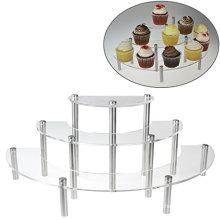 Clear Acrylic 3 Tier Cupcake Shelves, Retail Display Shelf Rack