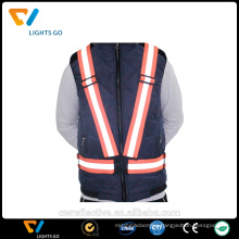 2016 factory sale Cheap 3m red Reflective safety Vest, reflective running vest