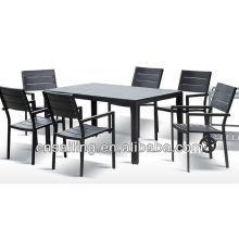 Heißer Verkauf im Freien aller Wetterchinese antike hölzerne geschnitzte Tabelle und Stuhl
