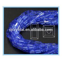 Retângulo do cristal de 6 * 12mm grânulos cortinas dos grânulos de vidro de cristal