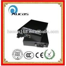 Convertidor de medios 10/100 / 1000M convertidor de fibra monomodo
