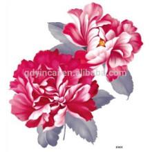 Flor no jardim falso corpo arte tatuagem adorável, popular tatuagem de braço