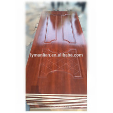 Nuevo diseño de la puerta del tablero de la piel de la puerta de la piel moldeada melamina hecha en China