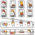 LINGSHANG bandana chapéu multifunctional sem costura bandana polar fleece multifunctional bandana