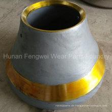 Brecherteile runden Schalenauskleidung konkaver Mantel aus Gießerei