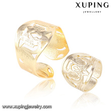 Ensemble élégant de bijoux en imitation plaqué or 18 carats avec bracelet et bague 63811