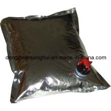Мешок алюминиевой фольги в коробке для вина / сока / кокса / воды / масла / жидкости