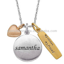 Fashion necklace 2013 dog tag pendant veneers Jewelry