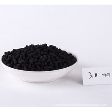 Carbón activado de pellets de 3 mm para la extracción de oro