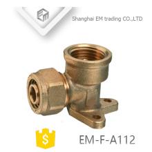 EM-F-A112 Fester T-Stück Messing-Pressfitting