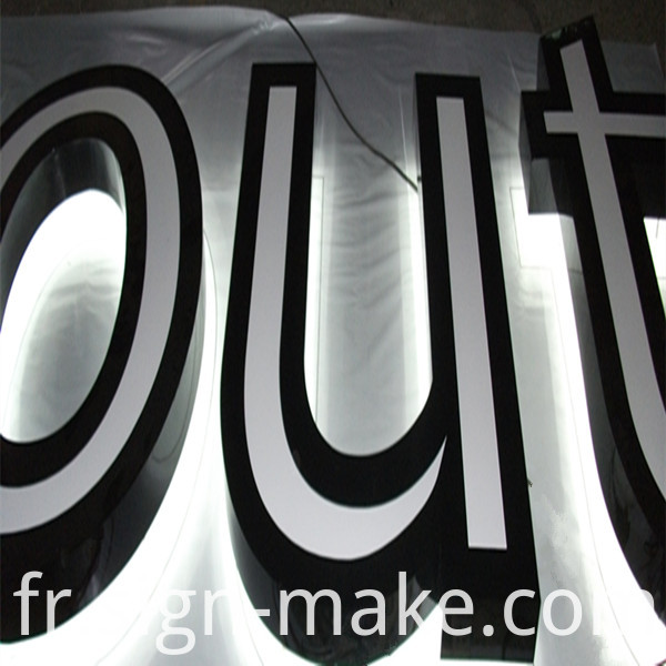 large back lit letter
