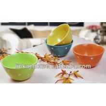 KC-04012 puntos coloridos que sirven cuencos, tazón de fuente de cerámica de la porción