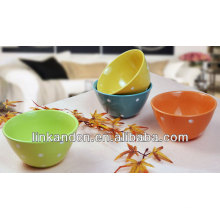 KC-04012colorful dots serving bowls,ceramic serving bowl