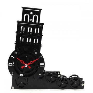 The Lean Tower Gear Desk Clock
