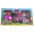 Popular Cartoon of Pink Pig Family Toys for Kids