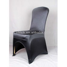 spandex shine chair cover,Lycra/Spandex chair cover with sash for wedding and banquet