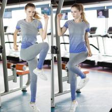 Esporte Vestuário Mulheres Fitness T-Shirt Quick Sweat Tees