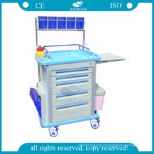 AG-AT001A1 used abs material patient injection anesthesia medical cart with drawer price