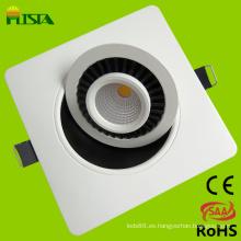 7W cabeza libre techo LED abajo luz con el CE, RoHS aprobadas