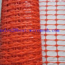 Orange Plastik Warnung Sicherheitszaun