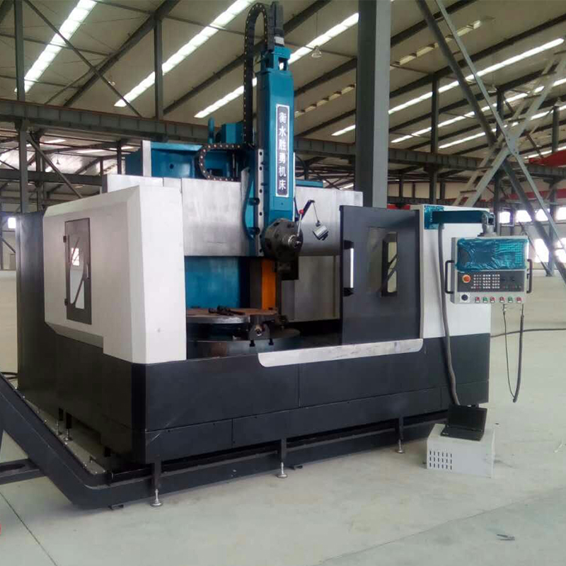Double column new cnc vertical turret lathe
