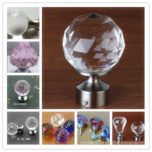 Hot Sale Home Decor Crystal Glass Cabinet Knobs and Handles