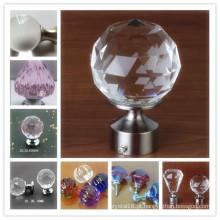 Botões e punhos quentes do armário do cristal de vidro da decoração da casa da venda