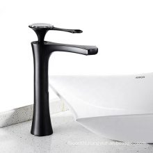 YLB0141-H Modern commercial single handle water tap black bathroom basin faucet
