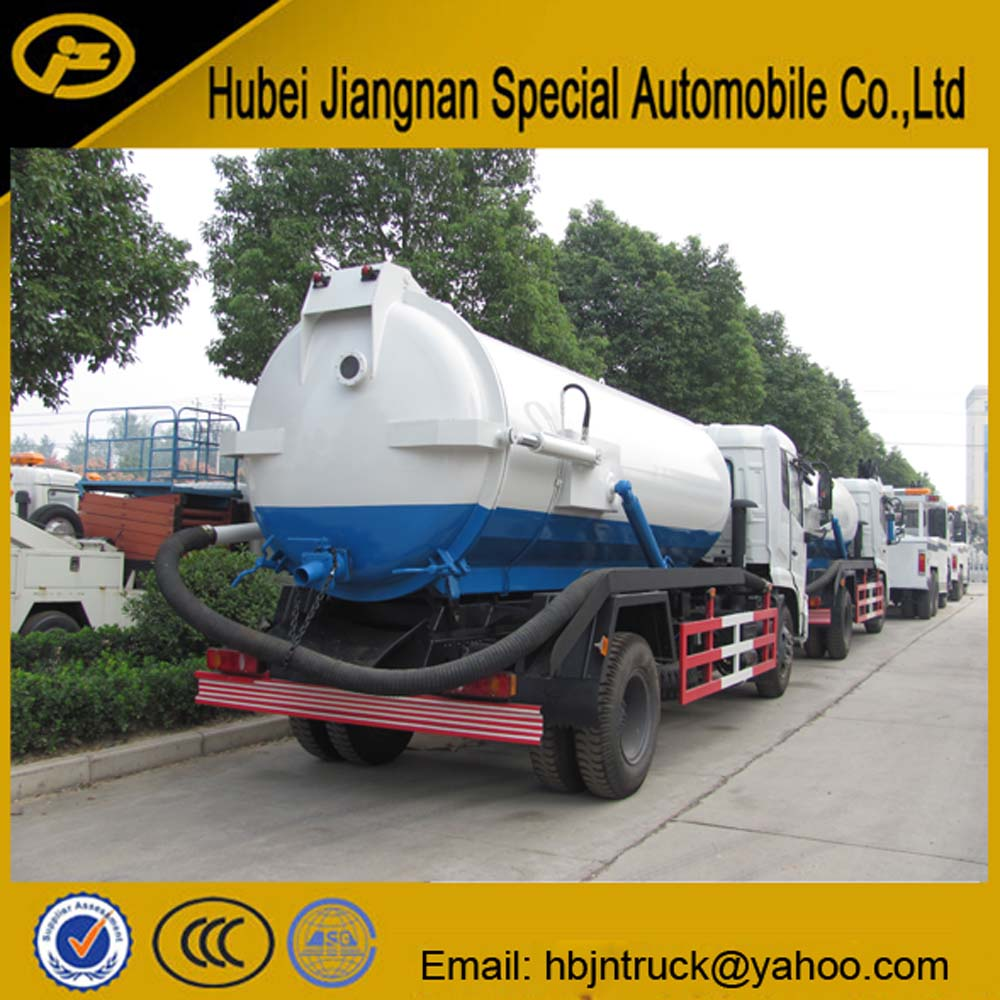vacuum tank truck rear view