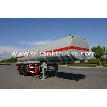 21400l 2x13t Fuwa Axles Stainless Steel Oil Tank Trailer / Fuel Tanker