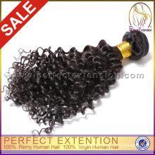 Onlin barato al por mayor rizado rizado humano mongol virginal del pelo