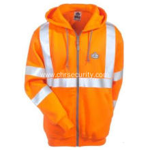 Unisex Orange GloWear Hooded Safety Sweatshirt