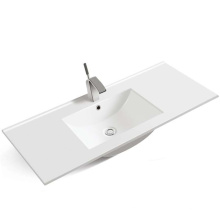Bathroom different size thin rectangular cabinet basin sink