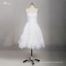 TW0169 3D Blumen Sleeveless Sweetheart sexy kurzes Hochzeitskleid