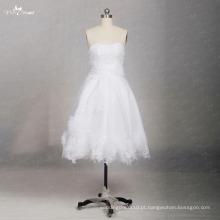 TW0169 Flores 3D sem mangas Sweetheart vestido de noiva curto sexy